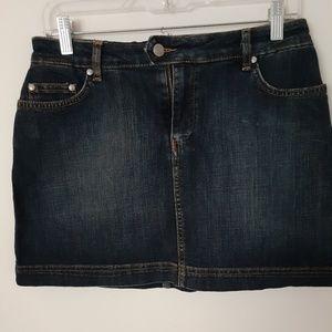 Lacoste dark wash jeans mini skirt size 40
